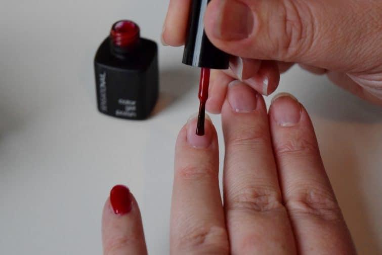 Sensationail gel polish red