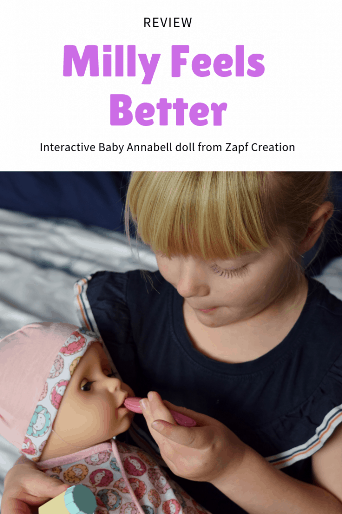 Milly Feels Better interactive doll from Baby Annabell (Zapf Creation)