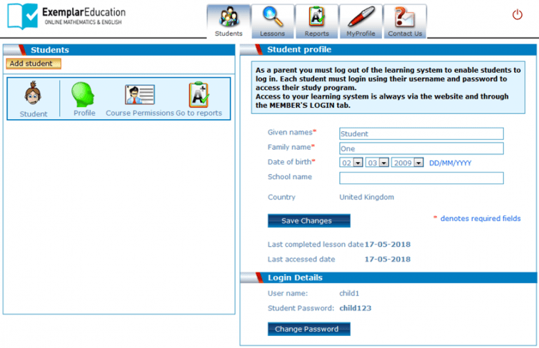 Exemplar Education - individual profiles