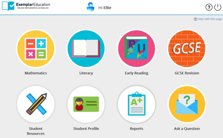 Exemplar Education - child friendly interface