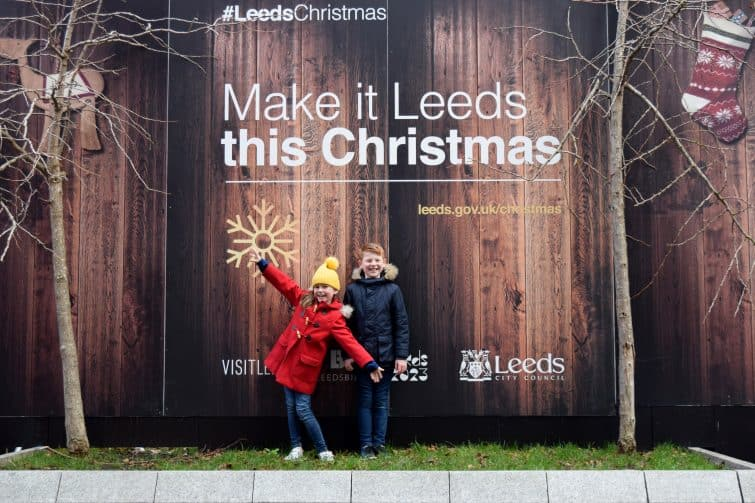 kids at Leeds Christmas Markets