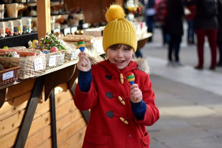 Little girl at Leeds Christmas Market
