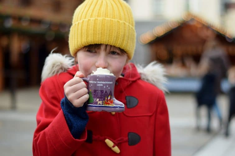 hot chocolate on Leeds Christmas Market