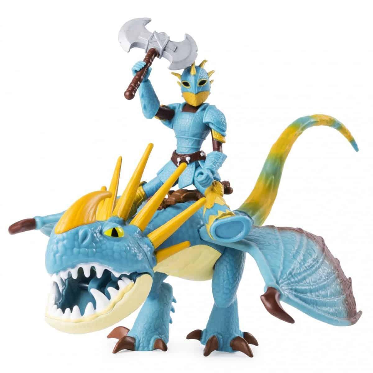 Dragon and viking figure set