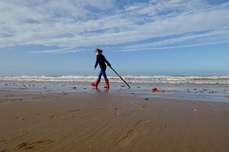 walking on Formby beach
