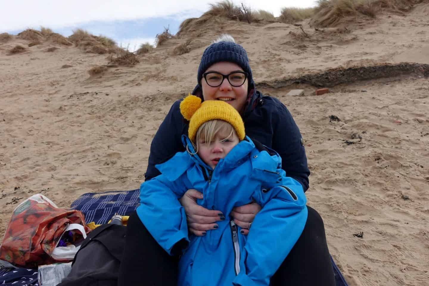 Nithered on Formby beach