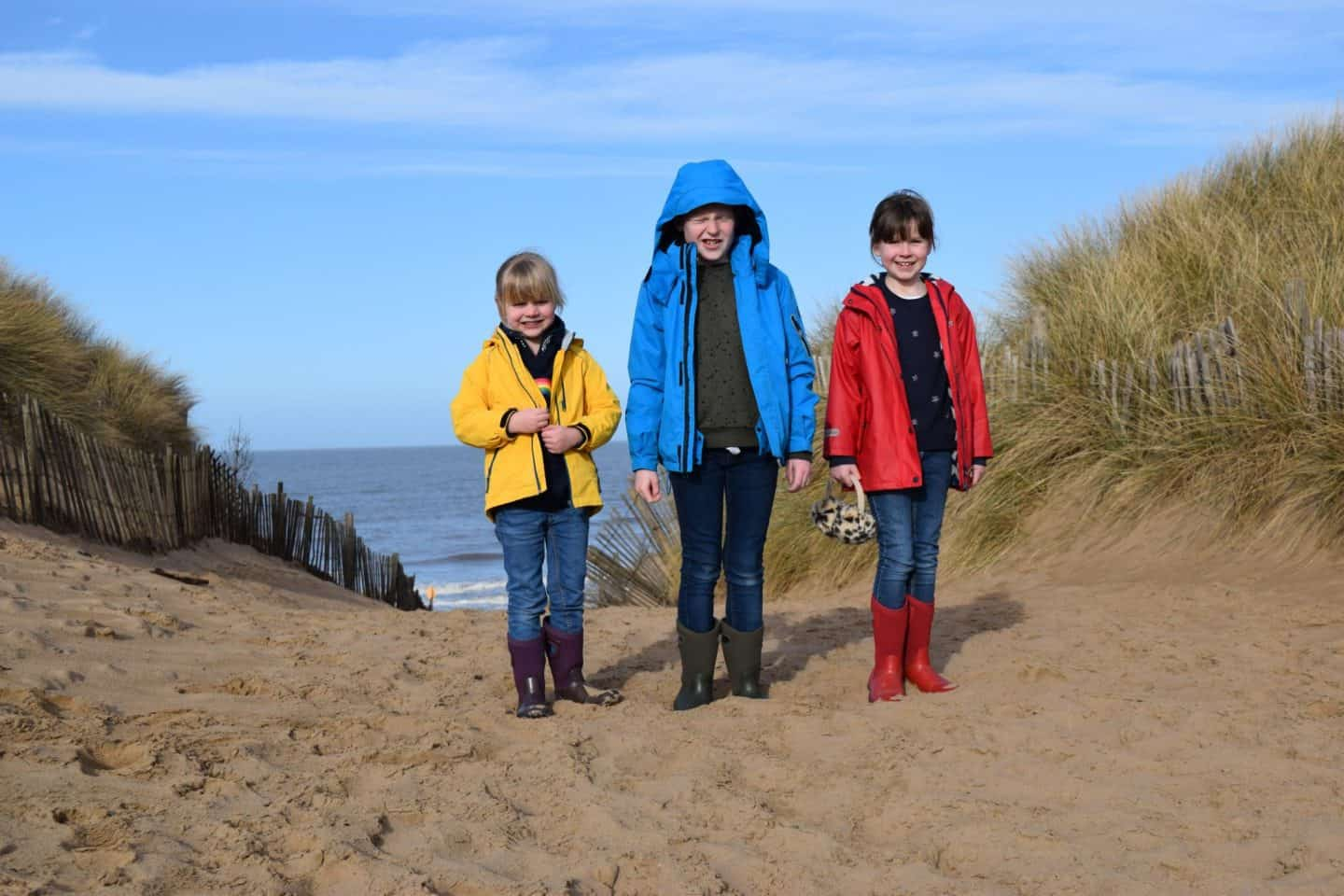 Exploring the sand dunes at Formby