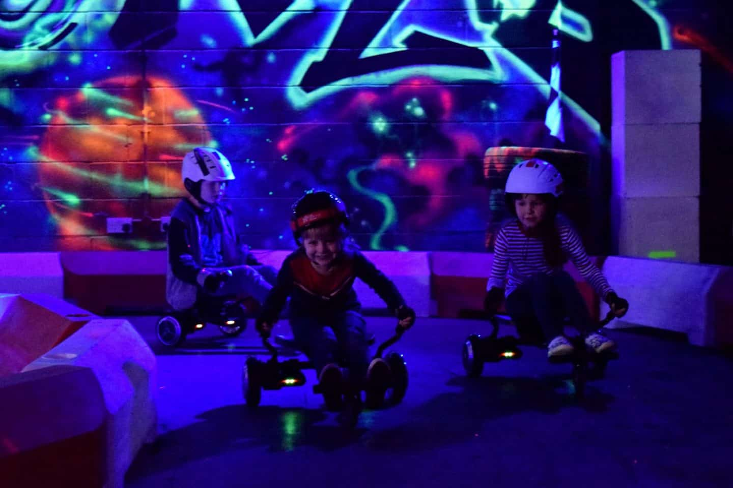 hoverboard racing at BEYOND