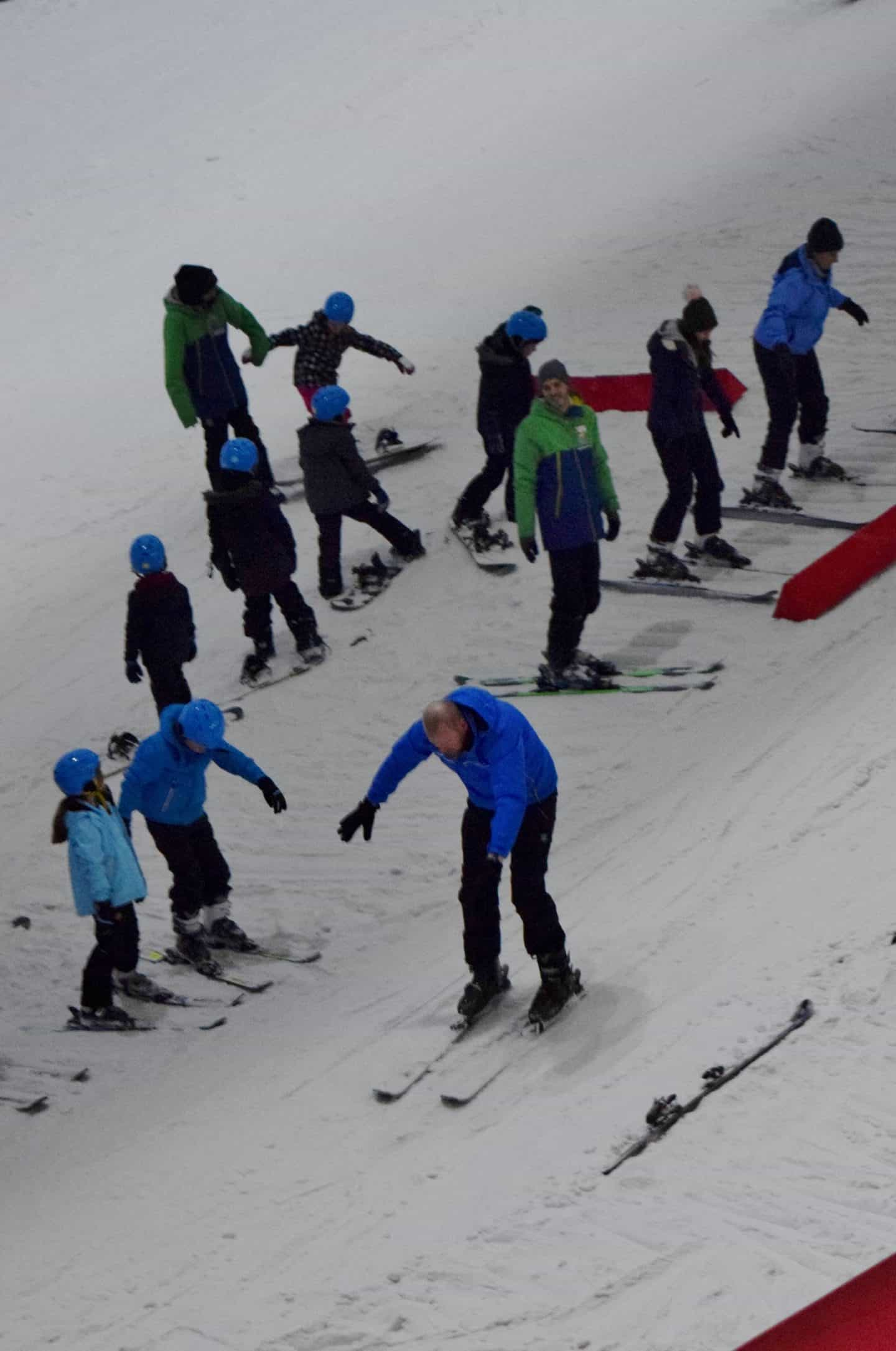 ski lessons at Chill Factore, Trafford