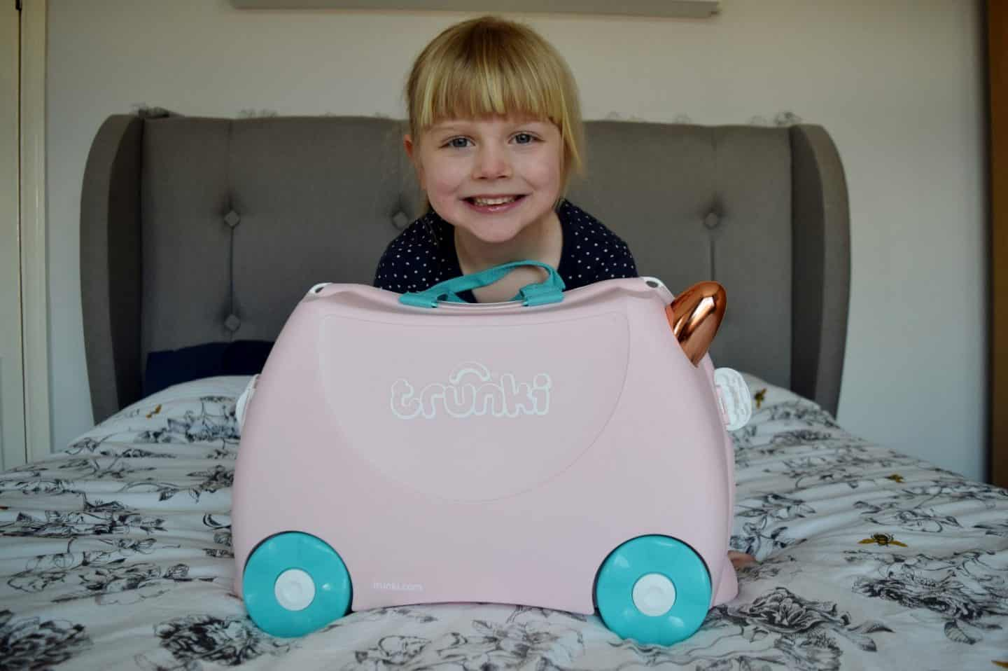 Flossi the Rose Gold Flamingo Trunki - a suitcase for kids