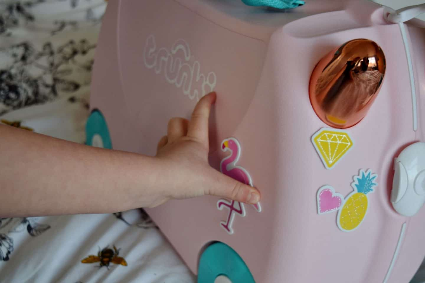 Sparkly foam stickers for your Trunki - how long will they last?