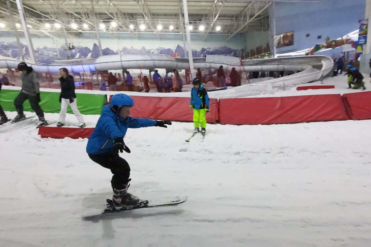 learning to ski at Chill Factore, Beyond