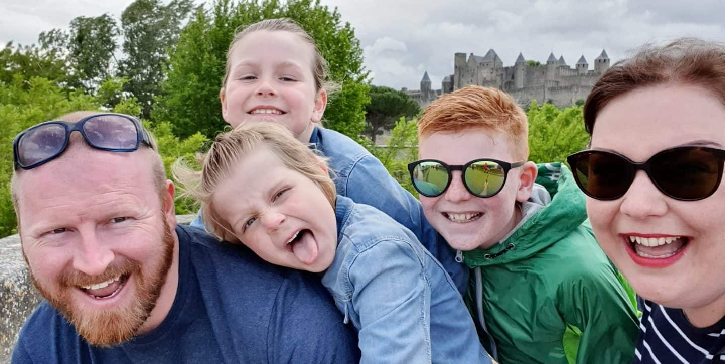 Family selfie at Carcasonne - Me & Mine May 2019