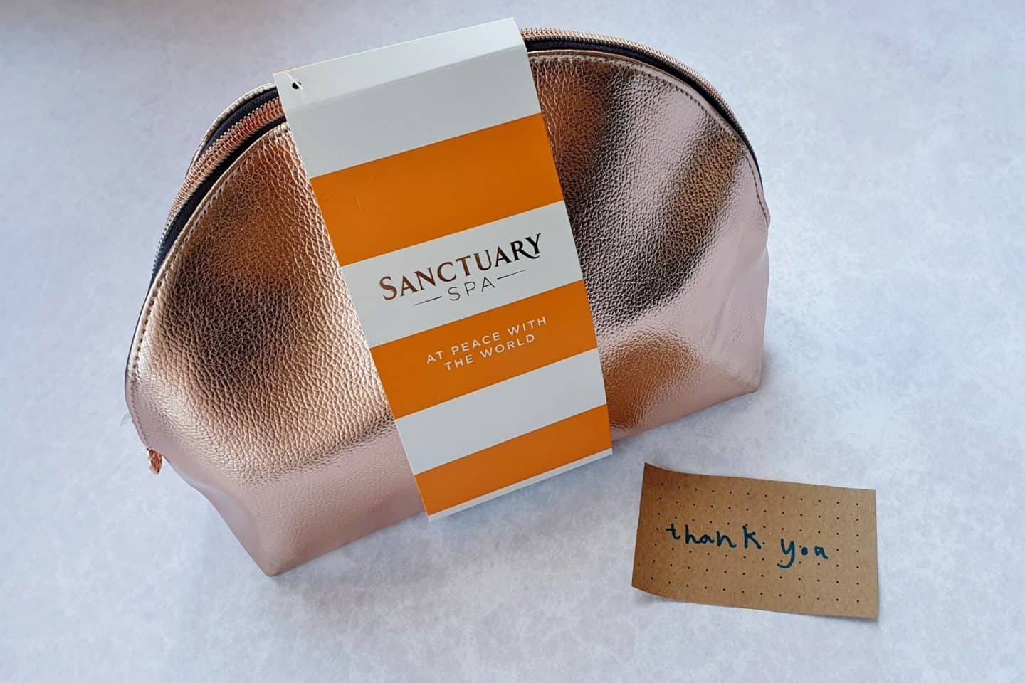 Sanctuary gift set in rose gold bag