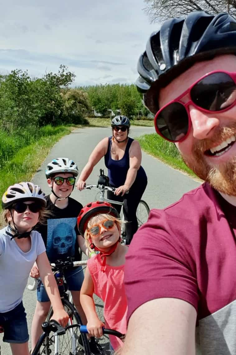 Family cycling in France Me & Mine May 2019
