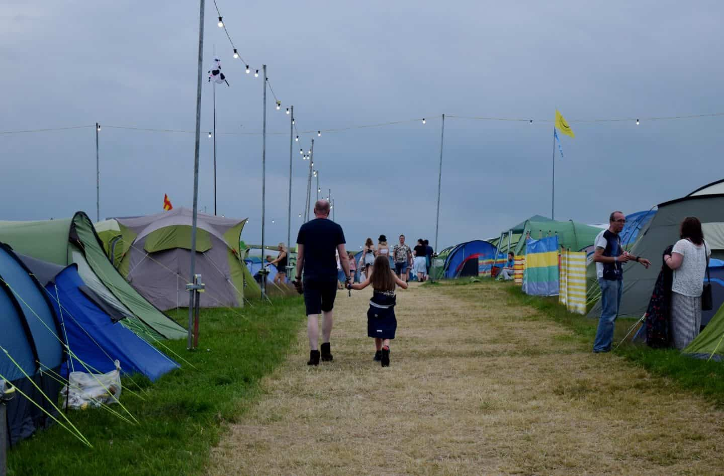 Family campsite at Y Not Festival