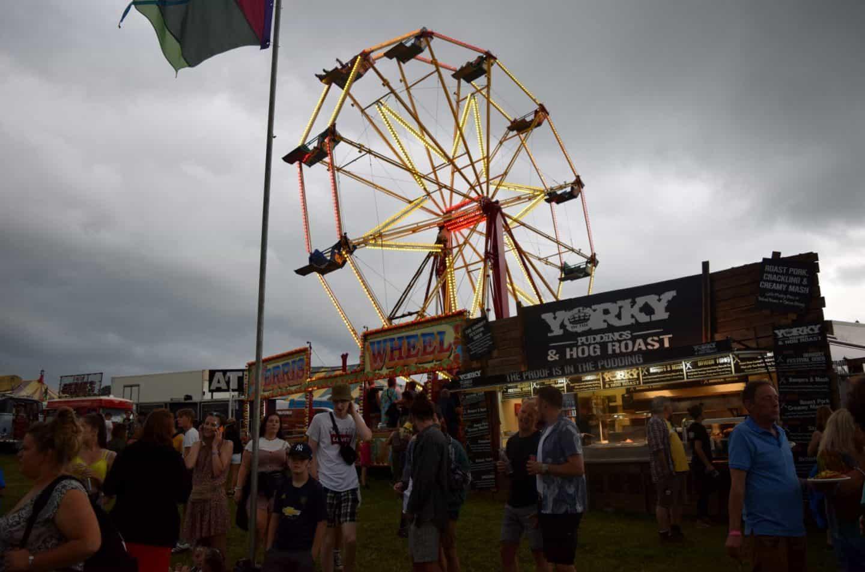 fairground rides at Y Not Festival, Derbyshire