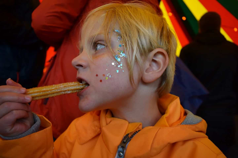 festival churros and glitter