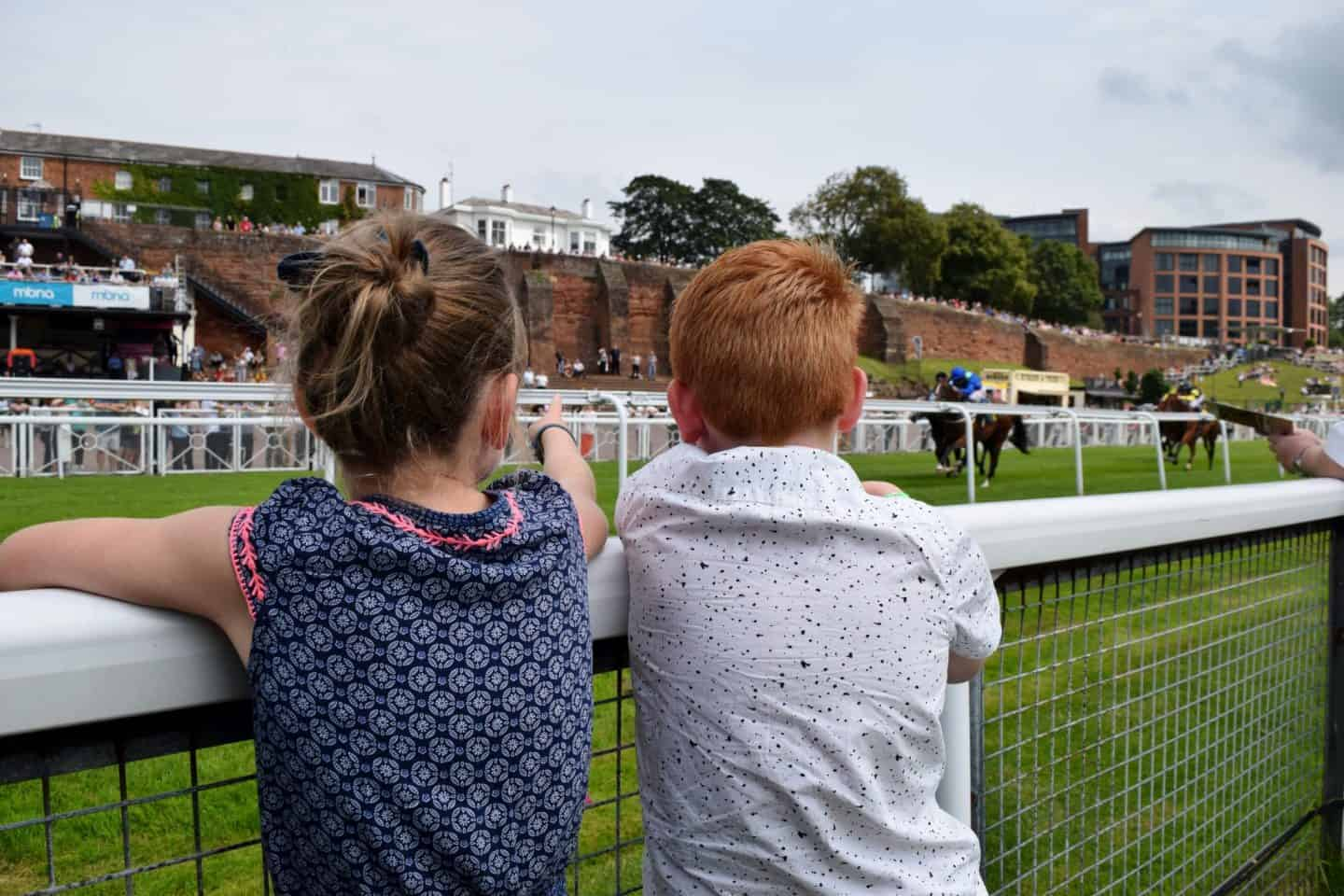 Under 18s Race Free - kids watching the horse racing at Chester Races