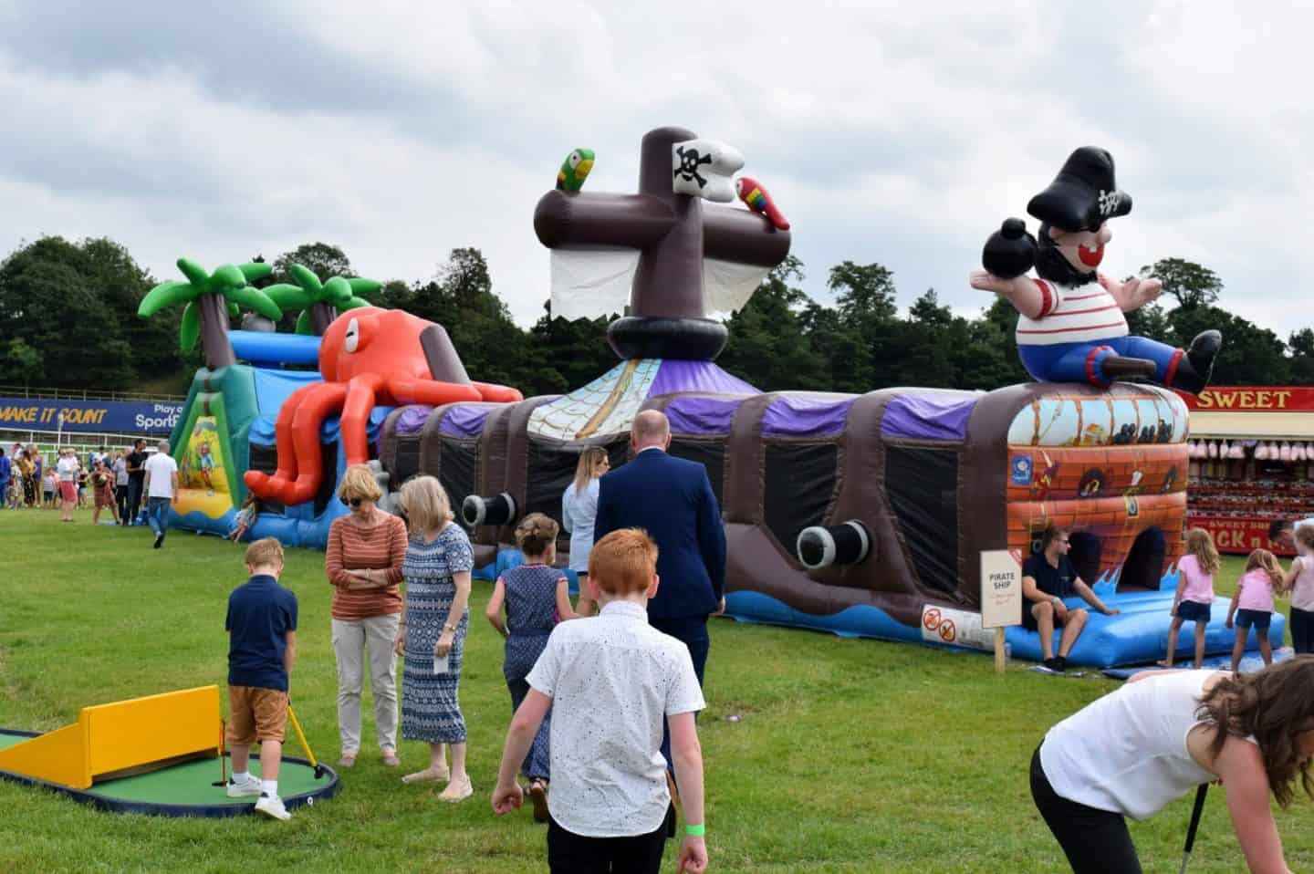 Free inflatables at Chester Racecourse on MBNA Family Day
