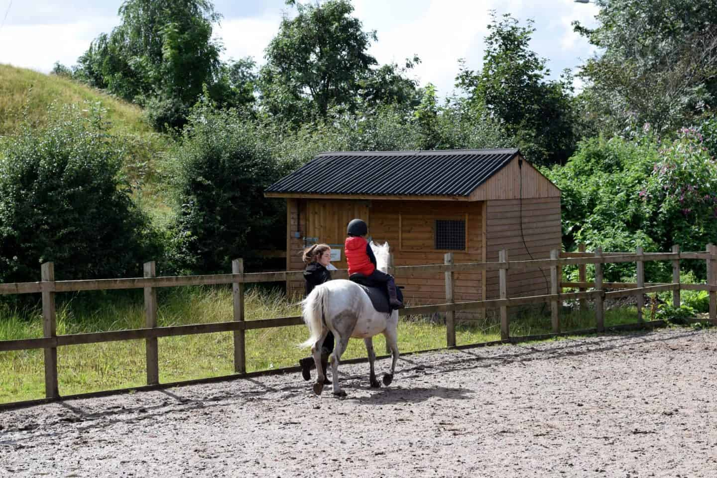 Daisy Nook riding school - trotting for the first time