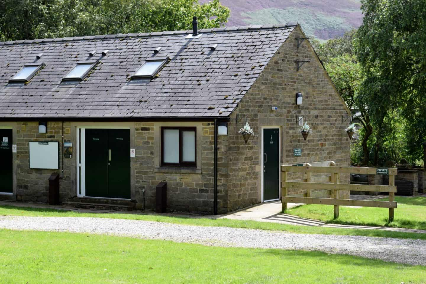 Toilet block at Crowden campsite