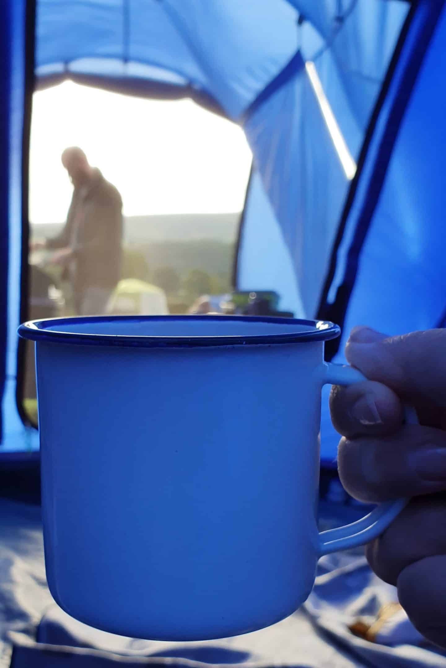 camping mornings - hot chocolate