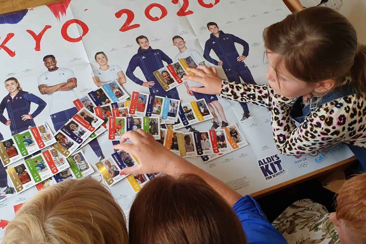 ALDI Kit for schools stickers featuring Olympic athletes