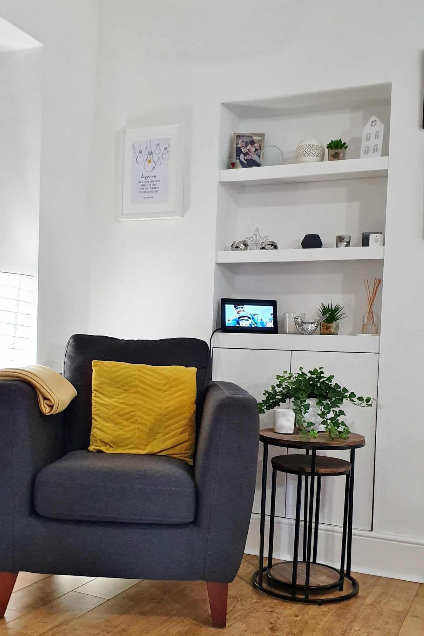 Nixplay Smart Photo Frame in living room