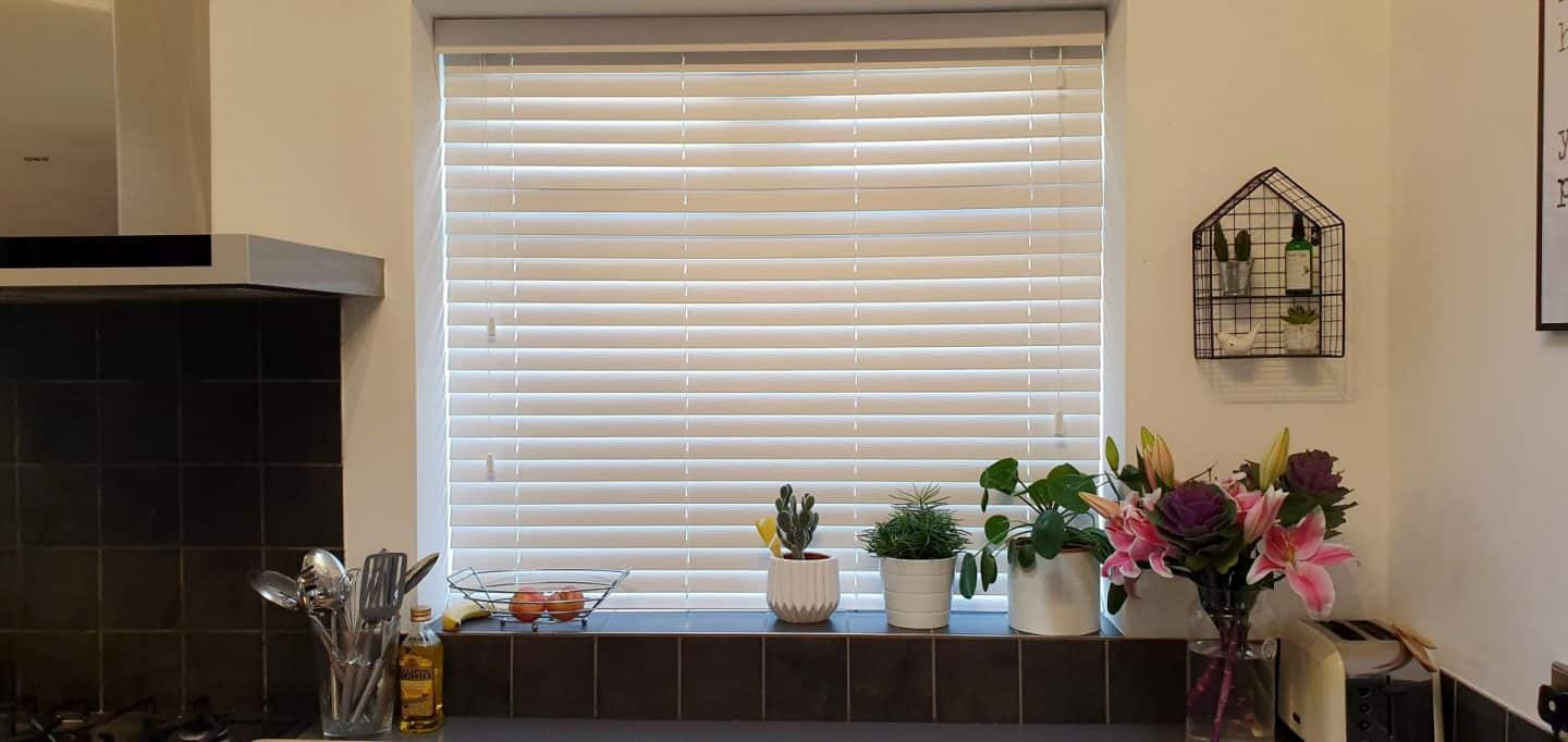 Make My Blinds - white wood effect slat blinds, made to measure
