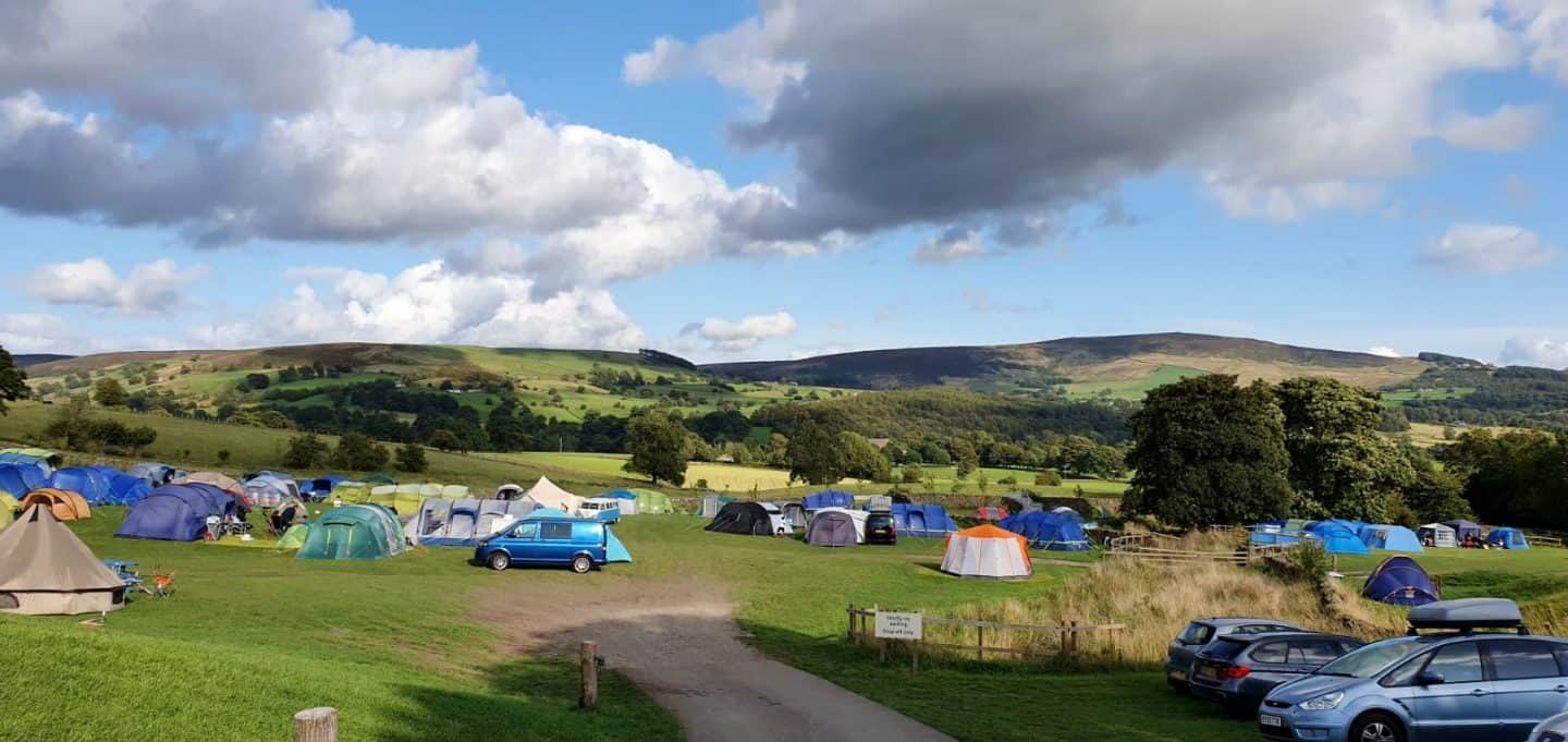 Catgill Farm campsite - Bolton Abbey. Stunning views, very hilly campsite
