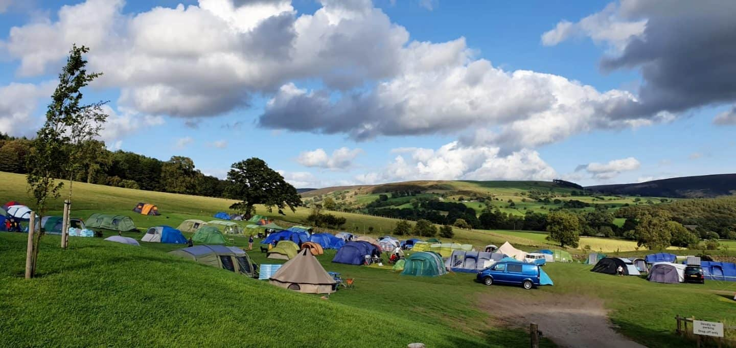 Catgill campsite - choose where you pitch makes it great campsite for groups