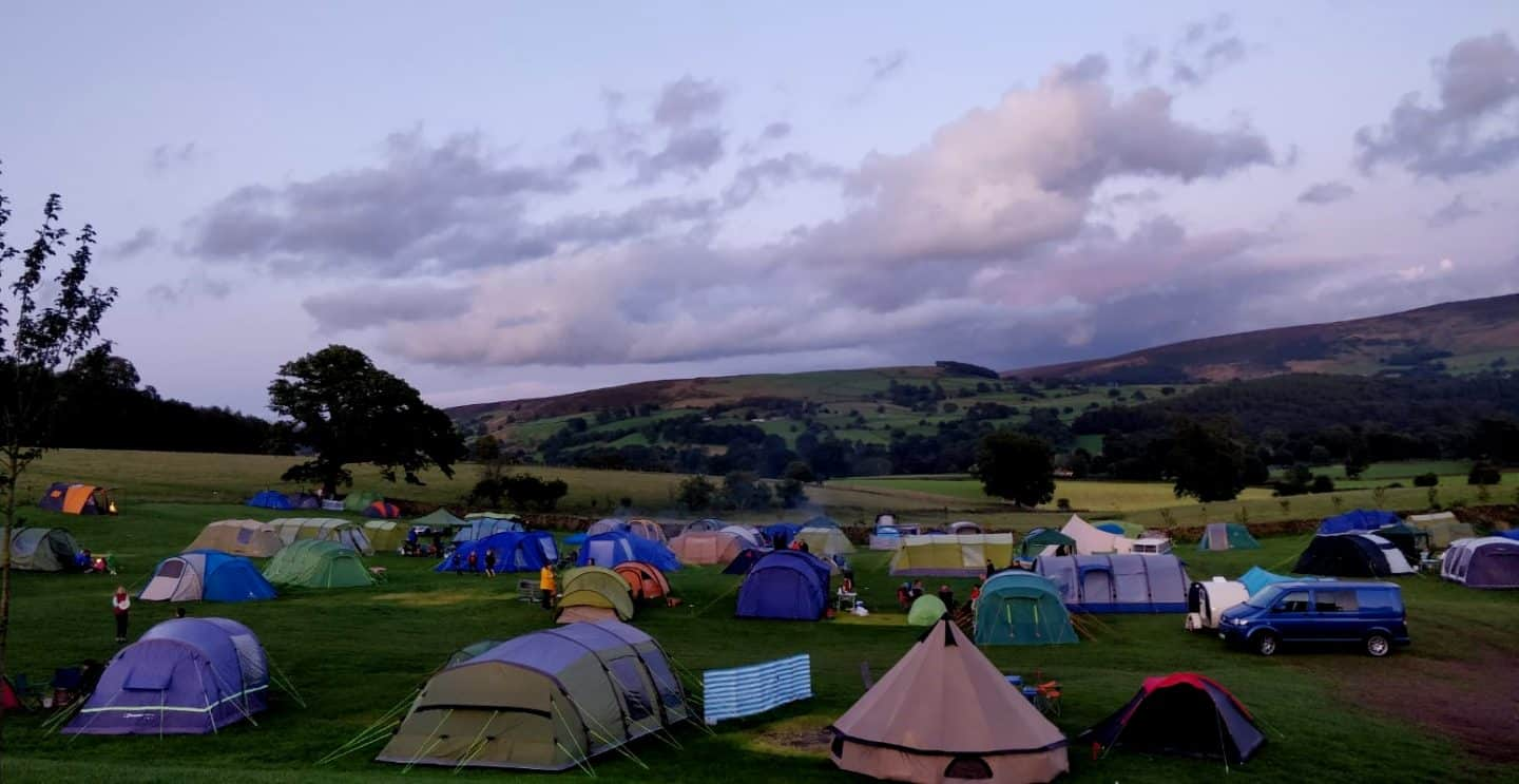 Night time at Catill campsite