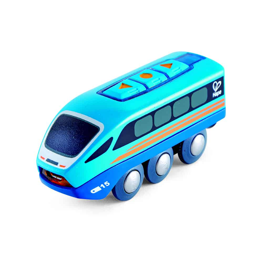 Hape remote control train - uses bluetooth and mobile phone to move
